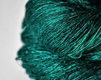 Pestled emerald  - Tussah Silk Lace Yarn