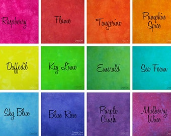 Hand Dyed Cotton Fabric - Half Yards/Full Yards - Pick Your Color