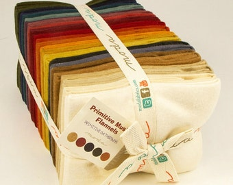 Primitive Muslin Flannel Fat Quarter Bundle from Moda and Primitive Gatherings