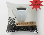 16x16 Java Addict Gift Idea, Home Decor Pillow Cover, Decorative Throw Cushion, Coffee Lounge Accessory, Caffine Office Accent, For Him, Her