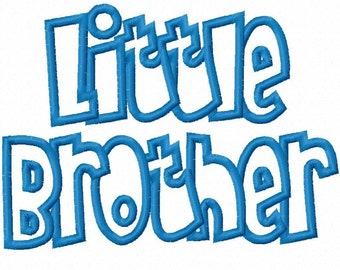 Little Brother Embroidery Machine Applique Design 11003