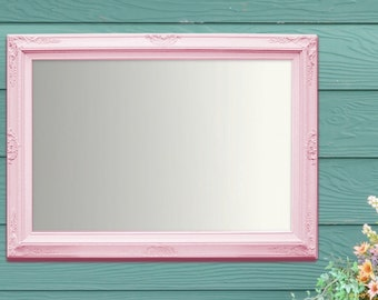 French country mirrors for sale framed white by revivedvintage for White framed mirrors for sale