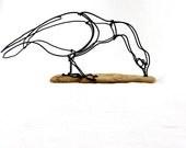 Goose Wire Sculpture, Wire Art, Minimal Sculpture,254590327