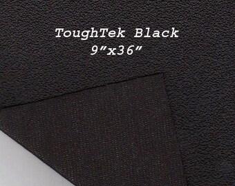 Toughtek 9 x 36 Black Non Slip Fabric, Soiling , Shoe Fabric