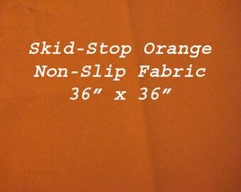 "Skid Stop Non Slip Orange Fabric 36"" by 36"""