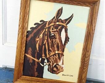Vintage Framed Horse PBN, Horse Paint By Number, Nance's Lad