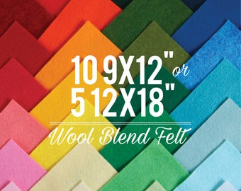 Wool Felt Sheets // Choose your own colors // Assorted Fabric, Wool Blend Felt, Felt Bows, Die Cut, Custom Colors, Felt Patterns