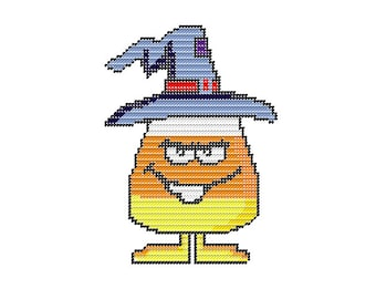 Candy Corn Witch Instant Download