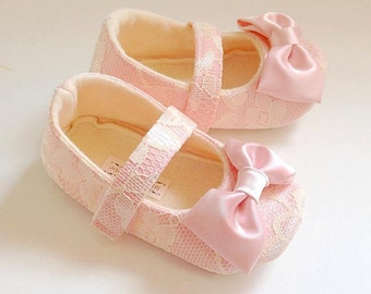 Toddler Girl Shoes Baby Soft Soled Lace Wedding Easter Flower