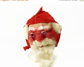 On Sale Vintage Santa Claus Mask, Antique Christmas Costume, Christmas Decoration