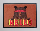 Hello Bear Welcome Mat