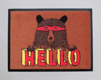 Hello Bear Welcome Mat