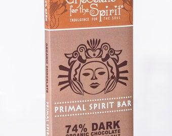 Organic 74% Dark Chocolate Primal Spirit Bar with Almonds & Sea Salt