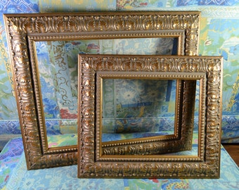 Antique Gold Picture Frame - Ornate Photo Frame - Wood Picture Frame