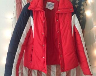 Red, White & Blue Ski Jacket 1970s