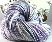 Handspun Yarn Gently Thick and Thin DK Single Merino and Silk 'My Dinky Pony'