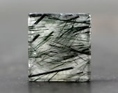 Rare, Beautiful Green Rutile Polished Gemstone Jewelry Pendant Supply Crafting Tools Collectible Stone Collector Rock Unique Jewelry (11419)