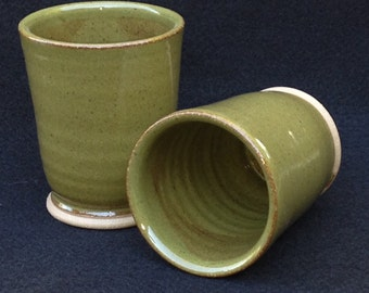 Shire cups, juice cups, Hobbit sized, speckled green gaze