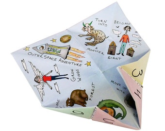 Illustrated Fortune Teller / Cootie Catcher
