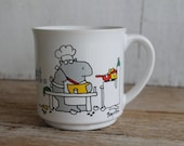 "Vintage Sandra Boynton Coffee Mug // ""Never Say Diet"" // Kitschy Office Gift"