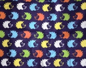 Blue hedgehog print Flannel pants pajama dorm lounge made to order your choice size XS - 2X