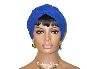 Blue Turban, Royal, Micro-suede Turban, Suede, Women's, Fashion, Twist Turban, Blue Turban Hat, Solid Blue Turban, Blue Turbin, Turbante