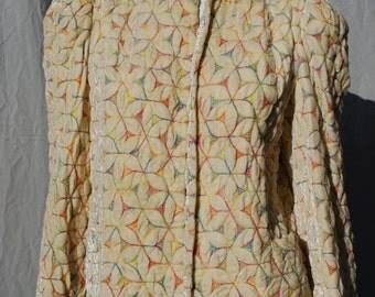 Vintage 30's crushed velvet jacket bolero embroidered short opera coat remade vintage sM by thekaliman