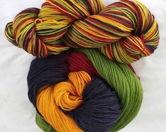 "Hand Dyed Sock Yarn  SW Targhee/Nylon ""Morning Has Broken"""