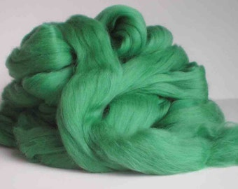 """New for 2016  Ashland Bay Solid Colored Merino for Spinning or Felting """"Myrtle""""  4 oz."""