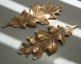 Ox Brass Oak leaf Stamping