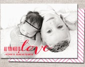Valentine card, Photo Valentine card, Valentines, Modern Valentine cards, Printable Valentine cards, Kids Valentine cards (All you Need)