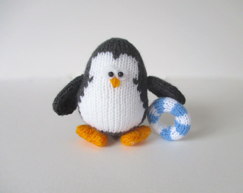 Hopkins the Penguin toy knitting pattern