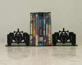 Race Car Indy Metal Bookends
