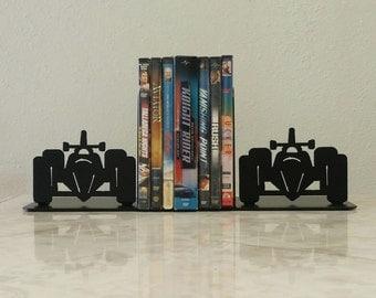 Race Car Indy Metal Art Bookends
