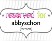 abbyschon: Payment for Custom Place Cards