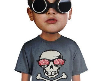 skull t-shirt funny xray glasses kids t-shirt for biker pirate  hip shirts for geeks nerds boys shirts small medium large xlarge