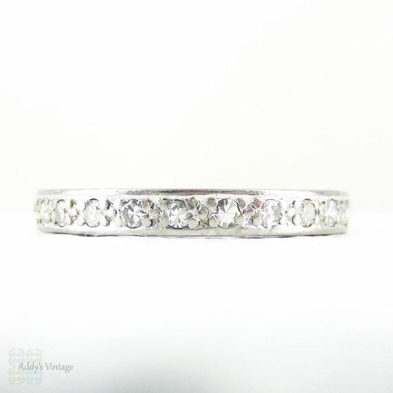 Platinum Art Deco Eternity Ring Full Hoop Diamond Wedding