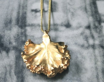 Statement Necklace / Pendant Necklace / One of a Kind Ginkgo Pendant Necklace / Accessories / Gift for Her / Jewelry / Necklace