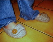 Custom Felted Wool Slippers - Made to size
