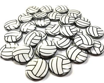 "Volleyball, 1"" Button, Volley Ball, Volleyball Pin, Volleyball Button, Volley Ball Party Favor, Volleyball Decor, Volleyball Theme, Pinback"