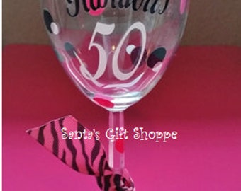 40..50..60..70 &  Fabulous Vinyl Decal - Birthday Decal - Happy Birthday - GLASS NOT INCLUDED