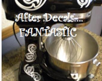 Mother's Day Gift, 10 Kitchenaid mixer decals, Swirl Decals for Mixer, Personalized Mixer, Baking, Mixer Decals, Kitchen Update, Organizing