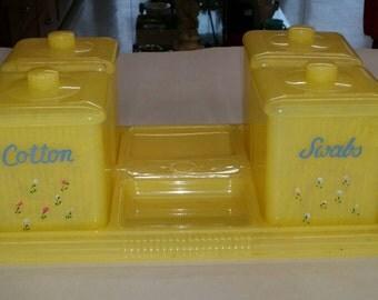 Sweet Celluloid Dresser Set for Child's Room Nursery or Dresser