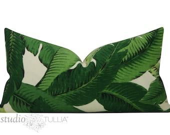Swaying Palms Pillow Cover - Lumbar - 12 x 22 - palm pillow - Hawaiian - tropical - indoor/outdoor -  resort - ready to ship