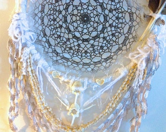 DEERBONE MANDALA DREAMnet with all up cycled materials