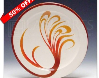 "50% OFF - ""Painted Sedona Sky"" Salad Plate"
