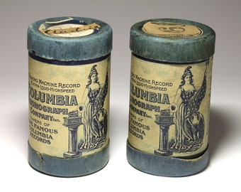 Vintage Wax Cylinders Recording from Columbia - Circa 1903