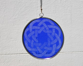 Blue Celtic Suncatcher