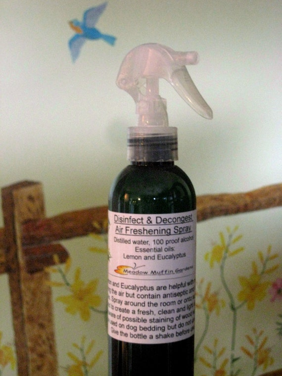 Air, Linen Spray, Eco Friendly Lemon and Eucalyptus Room Freshener, Germ Fighting Non-Aerosol Spray