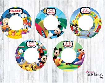 mickey mouse club house clothing dividers